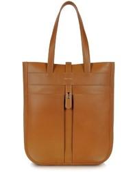 Светло-коричневая кожаная большая сумка