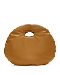 Светло-коричневая кожаная большая сумка от A.W.A.K.E. Mode
