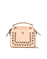 Светло-коричневая кожаная большая сумка от Fendi