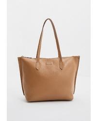 Светло-коричневая кожаная большая сумка от Furla