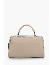 Светло-коричневая кожаная большая сумка от Labella Vita