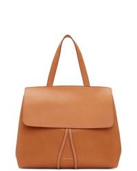 Светло-коричневая кожаная большая сумка от Mansur Gavriel