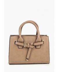 Светло-коричневая кожаная большая сумка от Modis