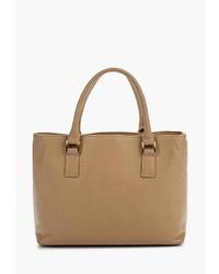 Светло-коричневая кожаная большая сумка от Olci