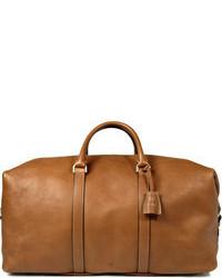 Светло-коричневая кожаная дорожная сумка