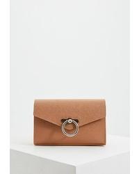 Светло-коричневая кожаная поясная сумка от Rebecca Minkoff