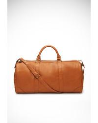 Светло-коричневая кожаная спортивная сумка