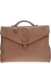 Светло-коричневая кожаная сумка почтальона