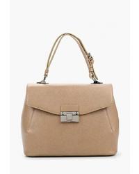 Светло-коричневая кожаная сумка-саквояж от Afina