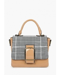 Светло-коричневая кожаная сумка-саквояж от Baggini