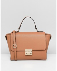Светло-коричневая кожаная сумка-саквояж от Carvela