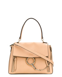 Светло-коричневая кожаная сумка-саквояж от Chloé