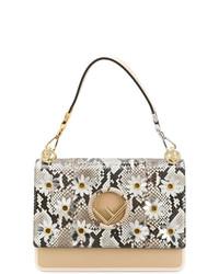 Светло-коричневая кожаная сумка-саквояж от Fendi