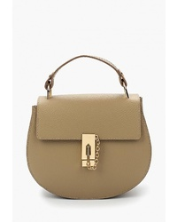 Светло-коричневая кожаная сумка-саквояж от Giorgio Costa