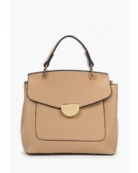Светло-коричневая кожаная сумка-саквояж от Keddo
