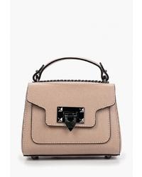 Светло-коричневая кожаная сумка-саквояж от Lisa Minardi