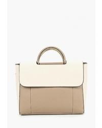 Светло-коричневая кожаная сумка-саквояж от Modis