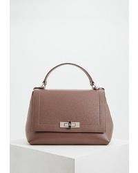 Светло-коричневая кожаная сумка-саквояж от Patrizia Pepe