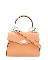 Светло-коричневая кожаная сумка-саквояж от Proenza Schouler