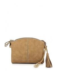 Светло-коричневая кожаная сумка через плечо от Jane Shilton