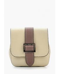 Светло-коричневая кожаная сумка через плечо от Labella Vita