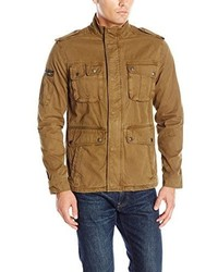 Светло-коричневая куртка в стиле милитари