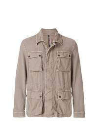 Мужская светло-коричневая куртка в стиле милитари от Jacob Cohen