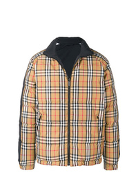 Мужская светло-коричневая куртка-пуховик в клетку от Burberry