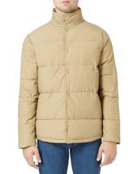 Светло-коричневая куртка-пуховик