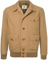 Светло-коричневая куртка-рубашка