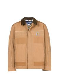 Светло-коричневая куртка с воротником и на пуговицах от Junya Watanabe MAN