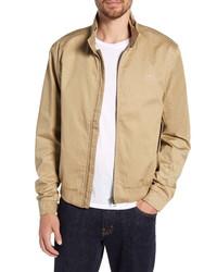 Светло-коричневая куртка харрингтон