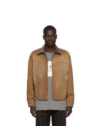 Светло-коричневая куртка харрингтон от Fear Of God