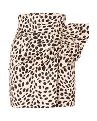 Светло-коричневая мини-юбка с леопардовым принтом от Silvia Tcherassi
