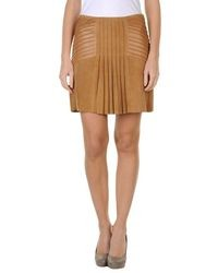 Светло-коричневая мини-юбка