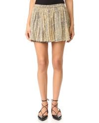 Светло-коричневая мини-юбка от Mes Demoiselles