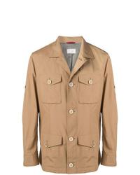 Светло-коричневая полевая куртка от Brunello Cucinelli