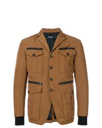 Светло-коричневая полевая куртка от DSQUARED2