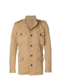 Светло-коричневая полевая куртка от Gabriele Pasini