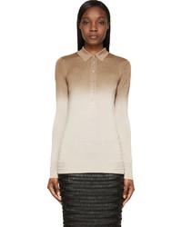 Женская светло-коричневая рубашка поло от Burberry