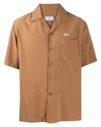 Мужская светло-коричневая рубашка с коротким рукавом от Ami Paris