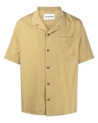 Мужская светло-коричневая рубашка с коротким рукавом от Han Kjobenhavn