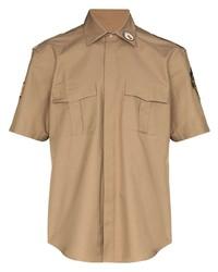 Мужская светло-коричневая рубашка с коротким рукавом от Phipps