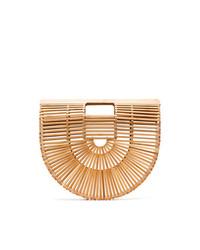 Светло-коричневая соломенная большая сумка от Cult Gaia