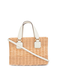 Женская светло-коричневая соломенная большая сумка от MARK CROSS