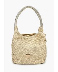 Светло-коричневая соломенная большая сумка от Nano de la Rosa