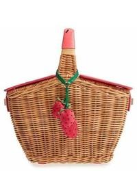Светло-коричневая соломенная сумка-мешок