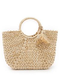 Женская светло-коричневая соломенная сумочка от Hat Attack
