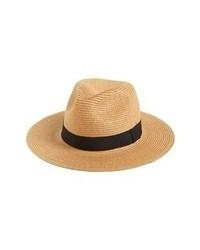 Светло-коричневая соломенная шляпа