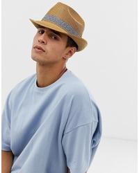 Мужская светло-коричневая соломенная шляпа от Ted Baker